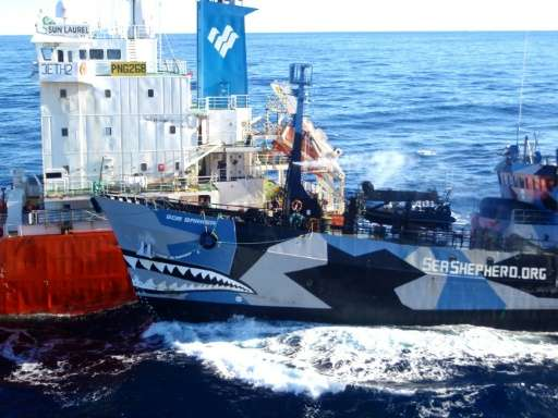 The arch enemies have waged a legal and public relations battle as Sea Shepherd has sought to disrupt an annual whale hunt in th
