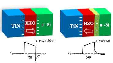 The concept of a silicon-based ferroelectric tunnel junction