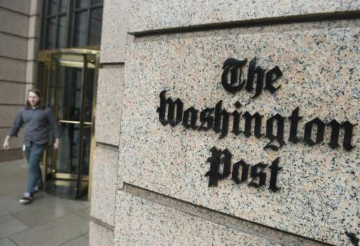 The headquarters for The Washington Post newspaper is seen in Washington, DC, on December 24, 2015, after the newspaper recently