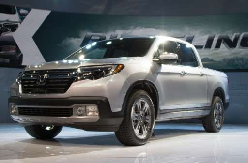The Honda Ridgeline is unveiled at the North American International Auto Show in Detroit, Michigan on January 11, 2016