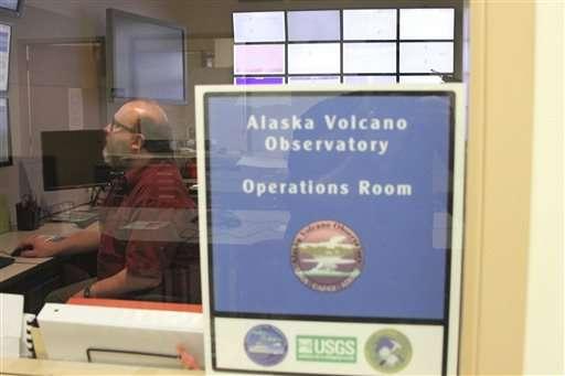 The Latest: Alaska volcano no longer spewing big ash cloud