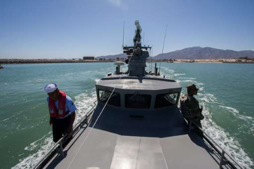 The Mexican Navy, pictured in March, 2016, is carrying out an operation to arrest illegal fishermen using nets to catch the Toto