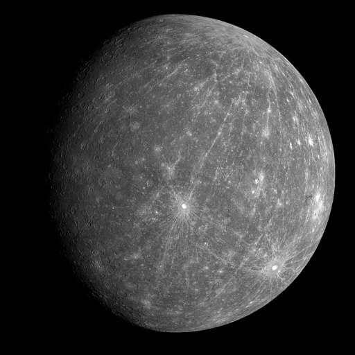 The smallest recognised planet in the Solar System, Mercury completes an orbit every 88 days, and passes between the Earth and t