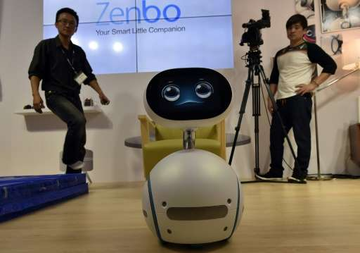 The Zenbo, a voice-controlled, English-speaking robot, can serve as a home-help, read receipts for the elderly, and tell childre
