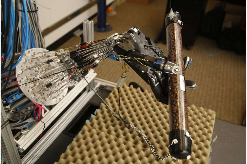 This 5-fingered robot hand learns to get a grip on its own