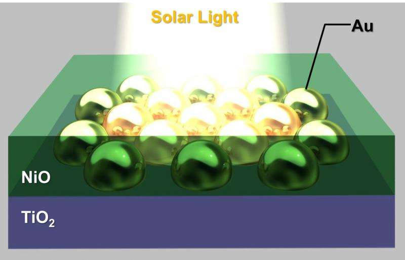 Using solid-state materials with gold nanoantennas for more durable solar cells