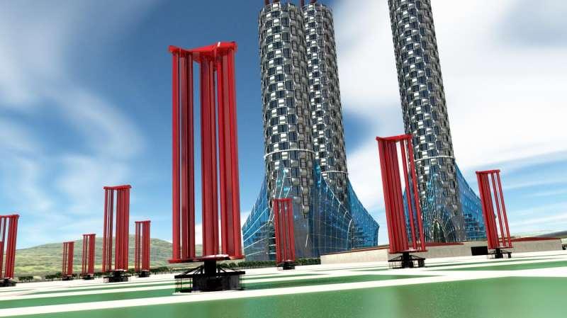Who's afraid of the big bad typhoon? Engineer works on typhoon turbine