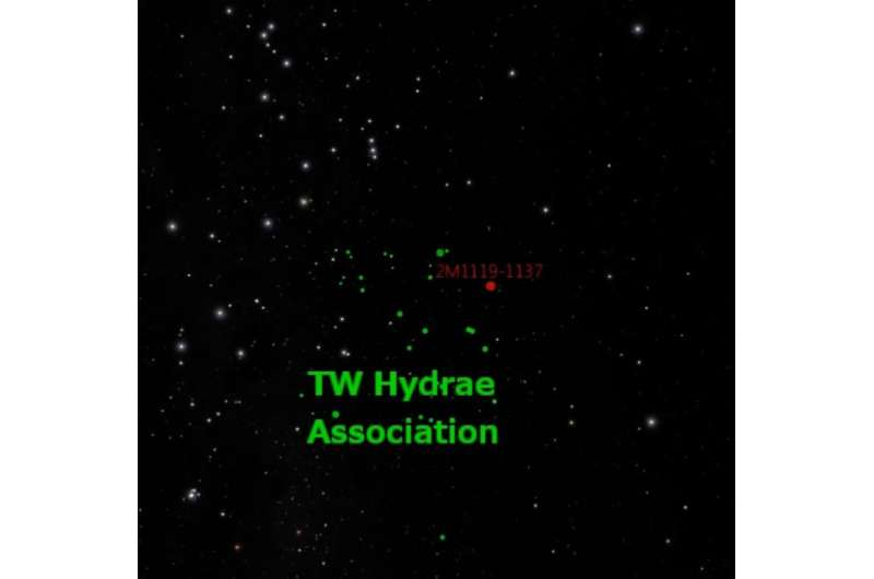 Young, unattached Jupiter analog found in solar neighborhood
