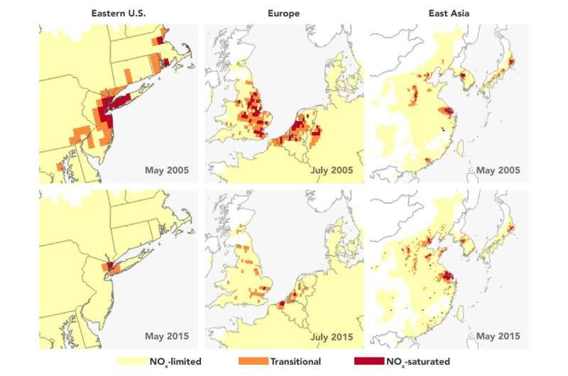 NASA satellite tracks ozone pollution by monitoring its key ingredients