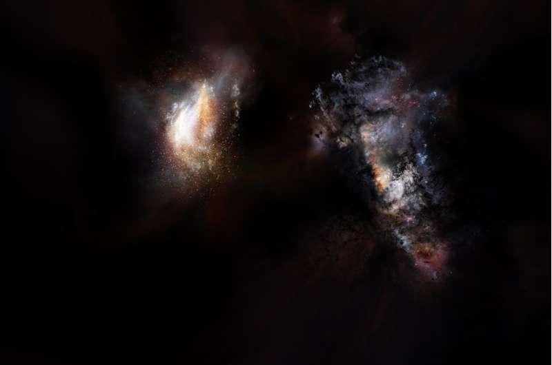 ALMA finds massive primordial galaxies swimming in vast ocean of dark matter