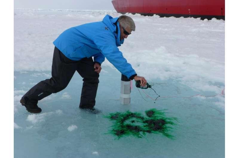 Arctic melt ponds form when meltwater clogs ice pores