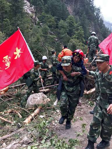 China reports no major collapses following powerful quake