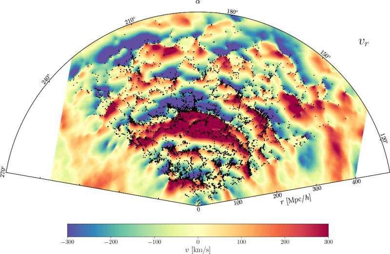 Cosmologists produce new maps of dark matter dynamics