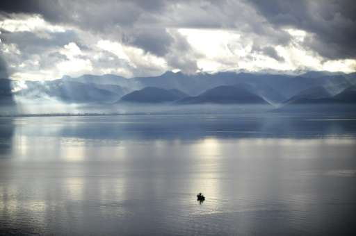 Environmental activists say Macedonia's Lake Ohrid is under threat because development plans could destroy a 50-hectare (120-acr