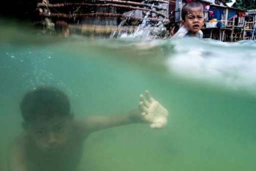 Experts say the Moken's population in Myanmar has fallen from around 5,000—over 10,000 if you include other sea nomads the Mokle
