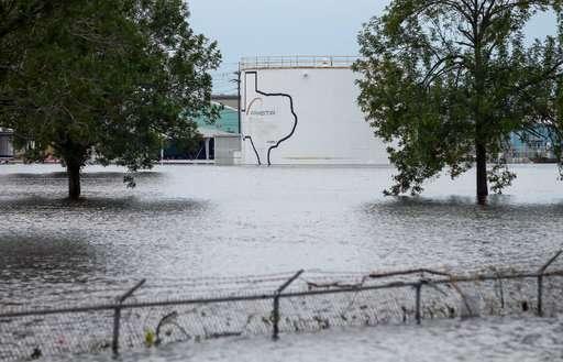 Explosions rock flood-crippled chemical plant near Houston