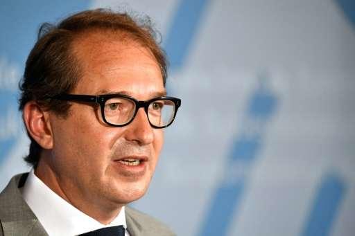 German Transport minister Alexander Dobrindt attends a press conference in Berlin on July 27, 2017