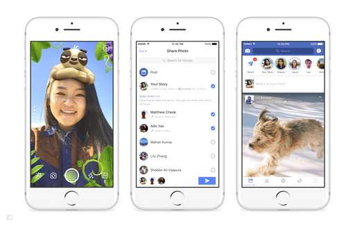 Got camera? Facebook adds more Snapchat-like features