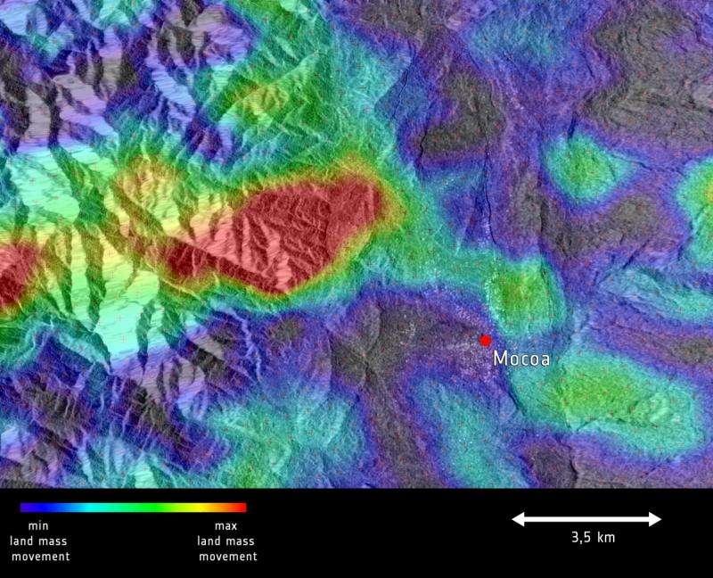 Image: Sentinel-1 sees Mocoa landslide