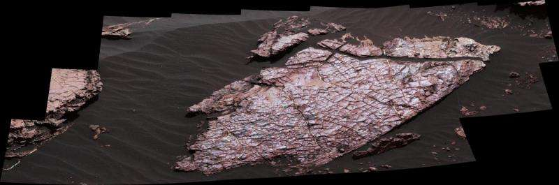 Mars rover Curiosity examines possible mud cracks