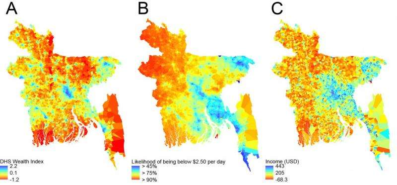 Mobile phone and satellite data to map poverty