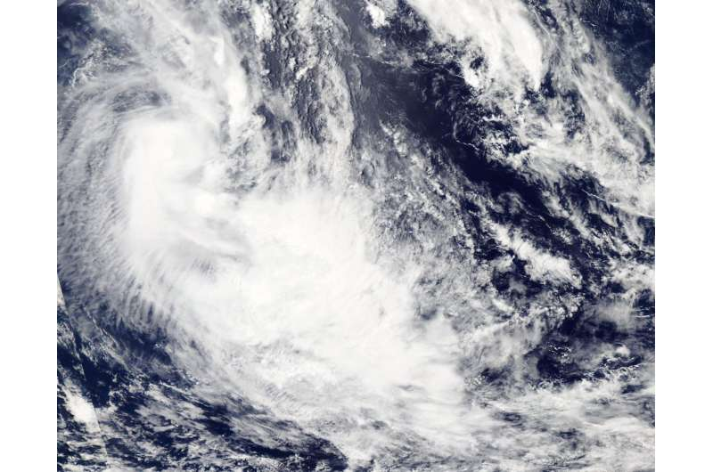 NASA spies Tropical Cyclone 08P's formation