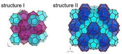 Neutrons reveal fast methane translational diffusion at the interface of two clathrate structures