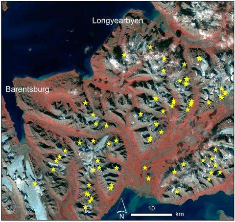 New Svalbard avalanches revealed by satellite