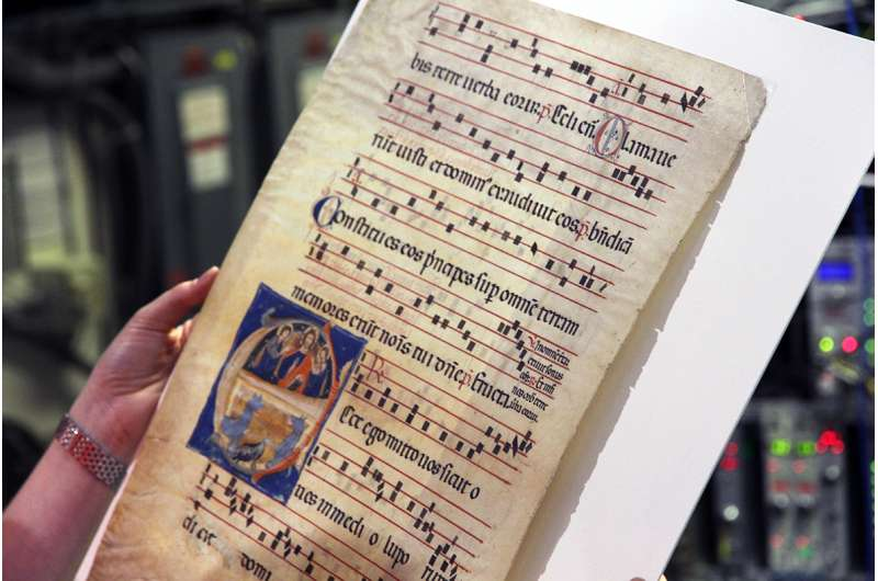 Out of the blue: Medieval fragments yield surprises
