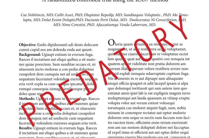 Predatory journals a global problem
