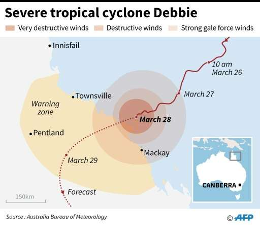 Severe tropical cyclone Debbie