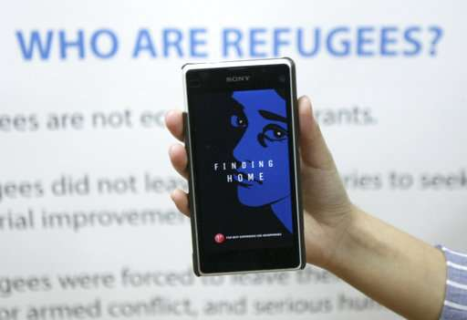Smartphone app lets user 'walk a mile in a refugee's shoes'