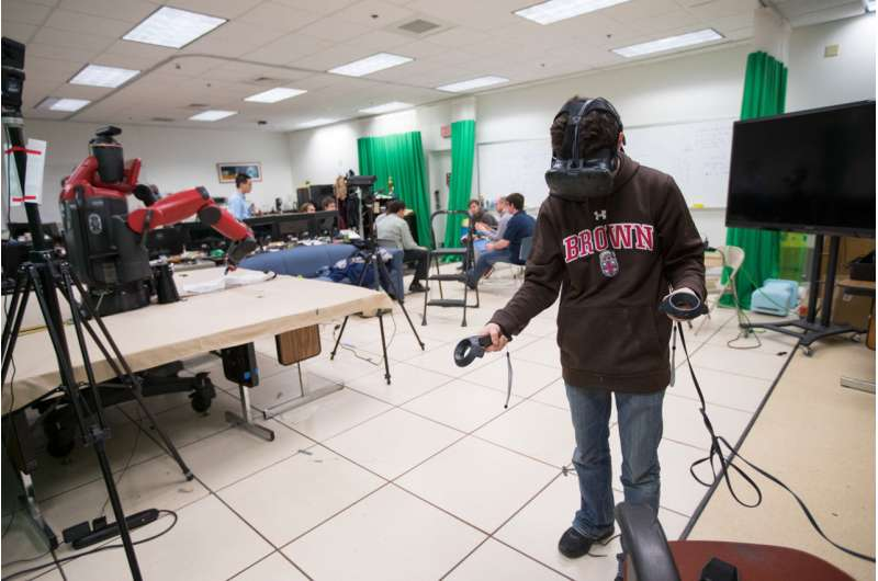 Software enables robots to be controlled in virtual reality