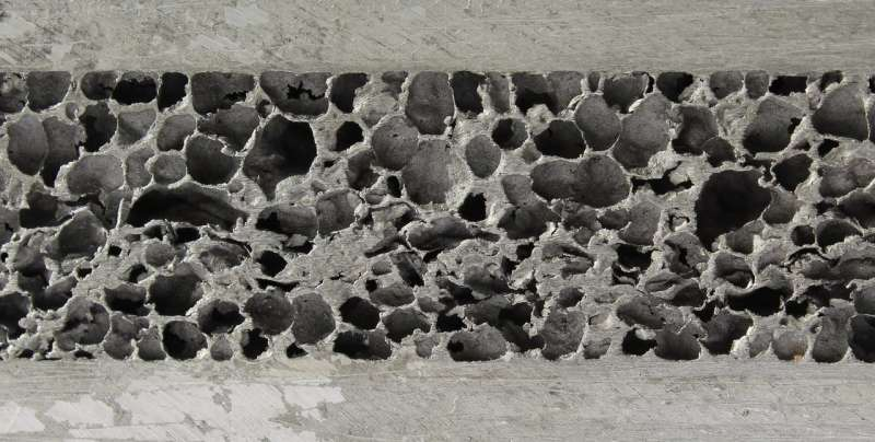 The new technology for porous material producing