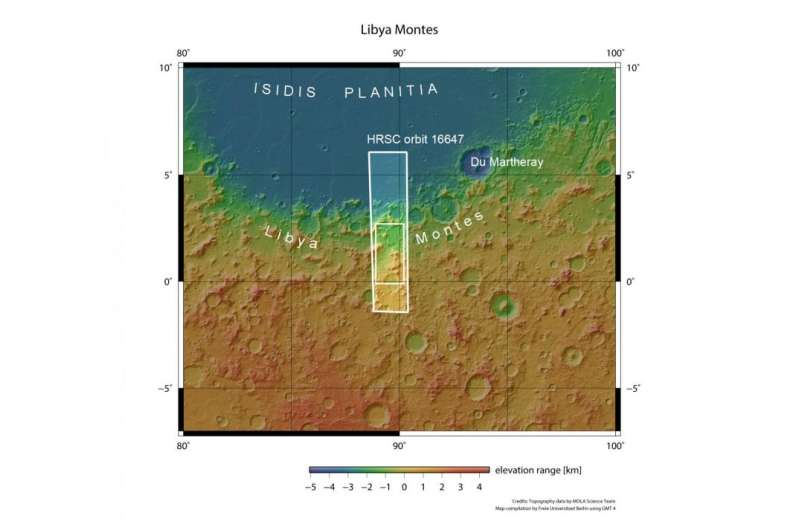Tributes to wetter times on Mars