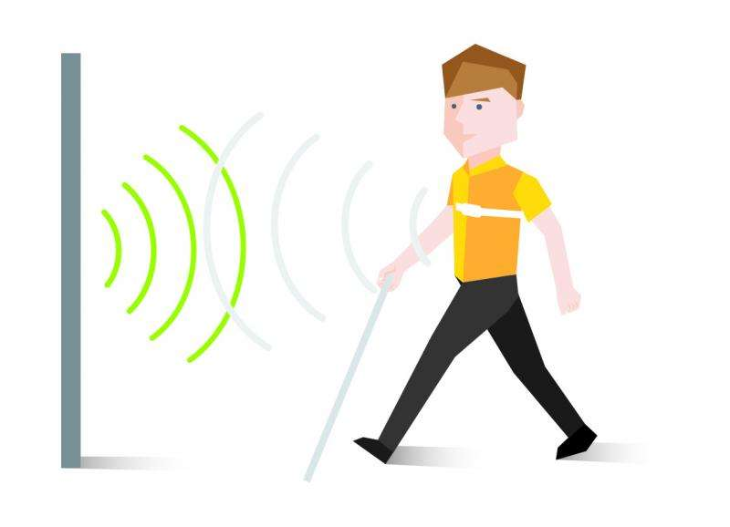 Wearable sensor device helps visually impaired to sense their environment