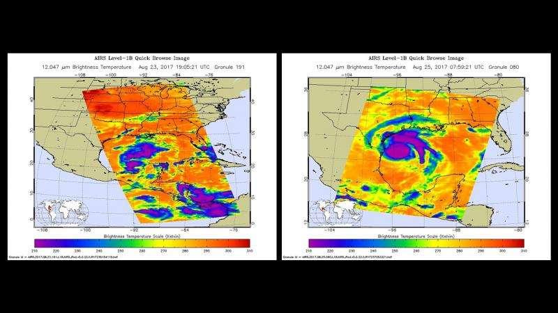 NASA satellite images show evolution of Hurricane Harvey