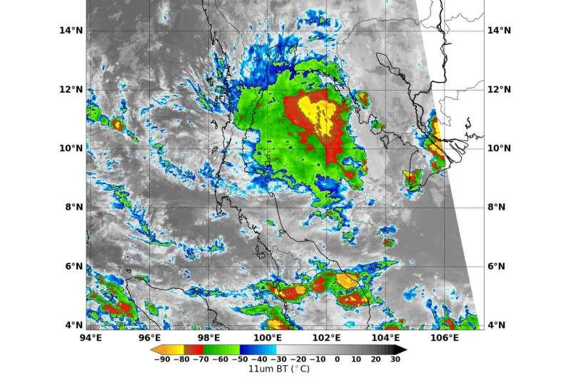 NASA-NOAA's Suomi NPP finds disorganized storms in Tropical Depression 29W