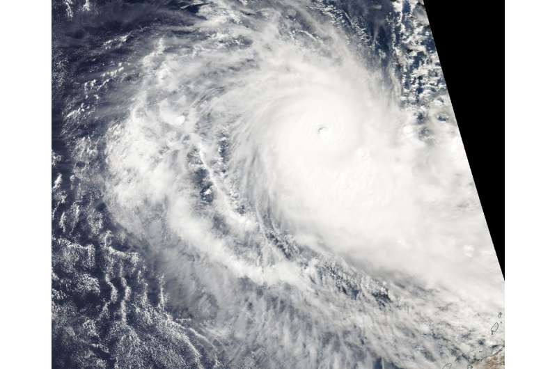 NASA sees Tropical Cyclone Ernie intensify