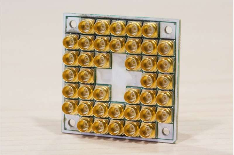 17-qubit superconducting chip with advanced packaging