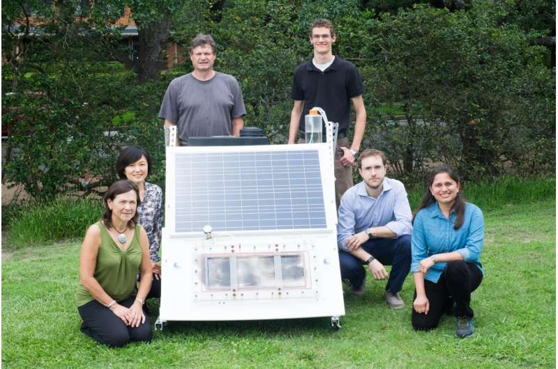 Freshwater from salt water using only solar energy