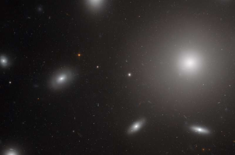 Image: Hubble catches galaxies swarmed by star clusters