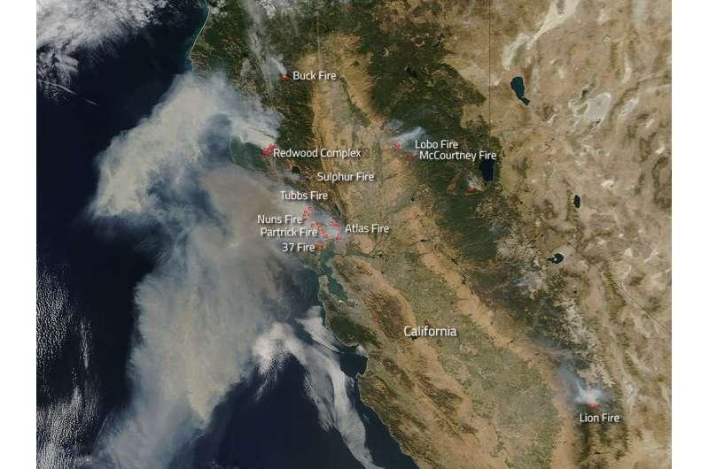 Image: Wildfires running amok in California