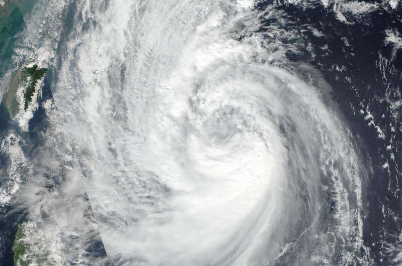 NASA finds Tropical Storm Saola's strength off-center
