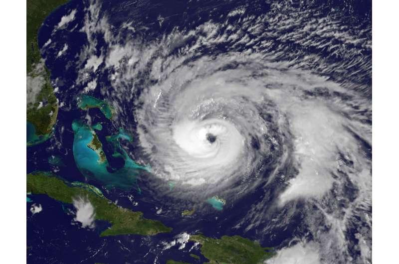 NASA finds wind shear affecting Hurricane Maria as its eye clears