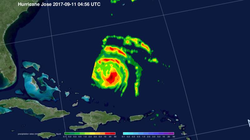 NASA satellites find wind shear affecting Hurricane Jose