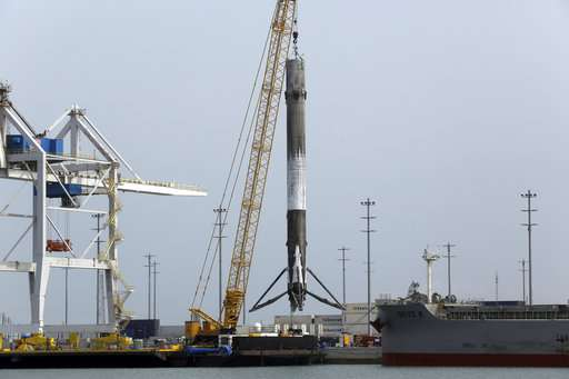 Reused rocket back in port after satellite launch by SpaceX