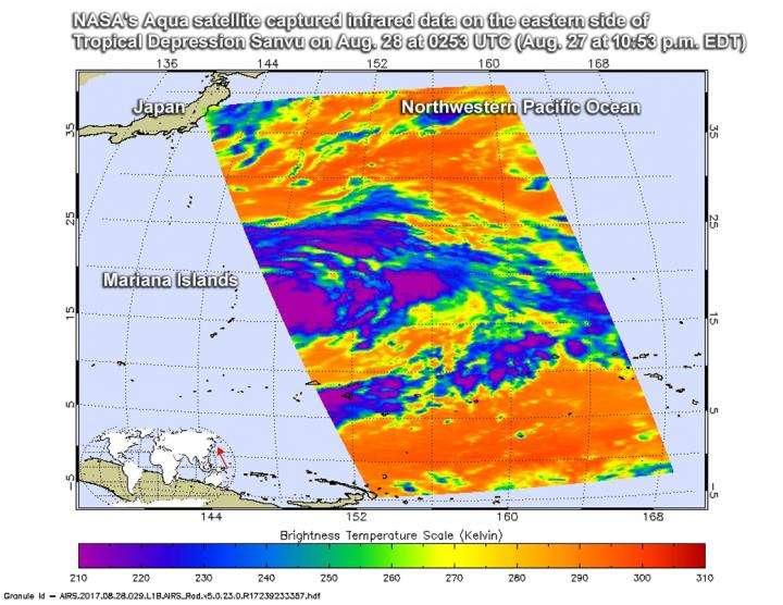 NASA gets an infrared view of Tropical Cyclone Sanvu
