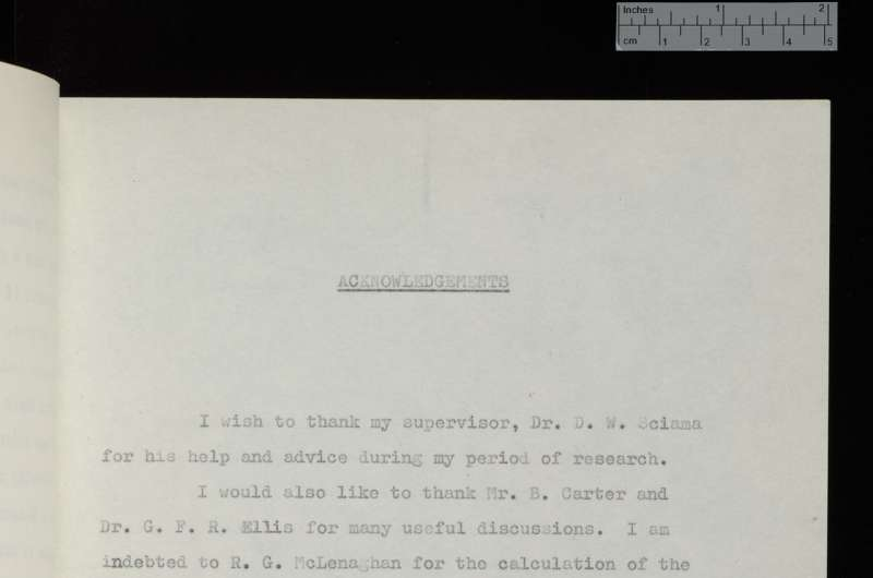 Stephen Hawking's PhD thesis goes online for first time