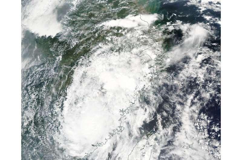 NASA sees Tropical Storm Nesat landfall in China